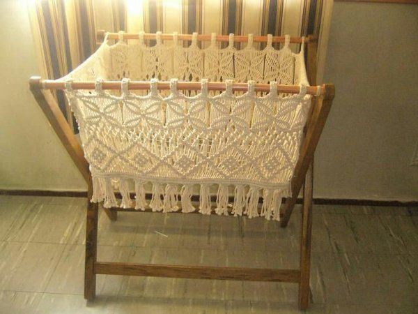 Macrame baby bed/ coat. picture