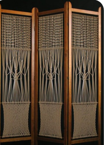 Macrame divider picture