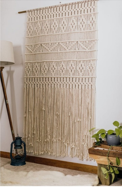 Macrame wall hasnging picture