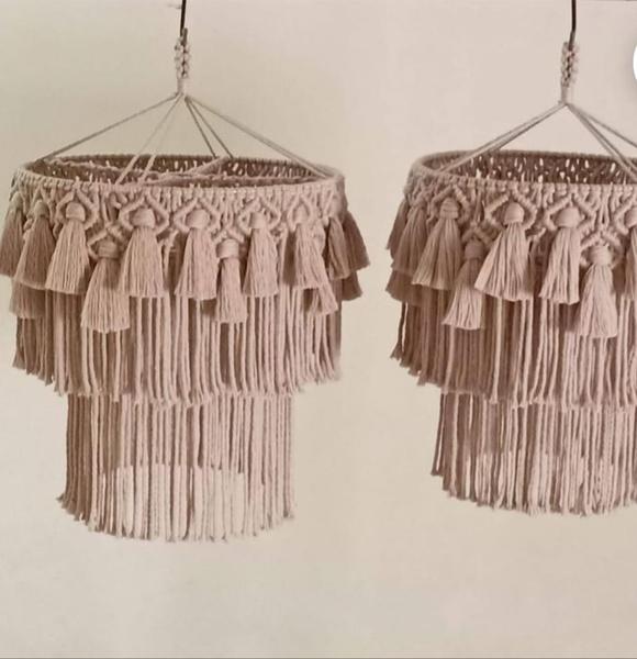 Macrame chandelier picture
