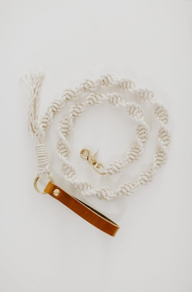 Macrame dog leashes picture
