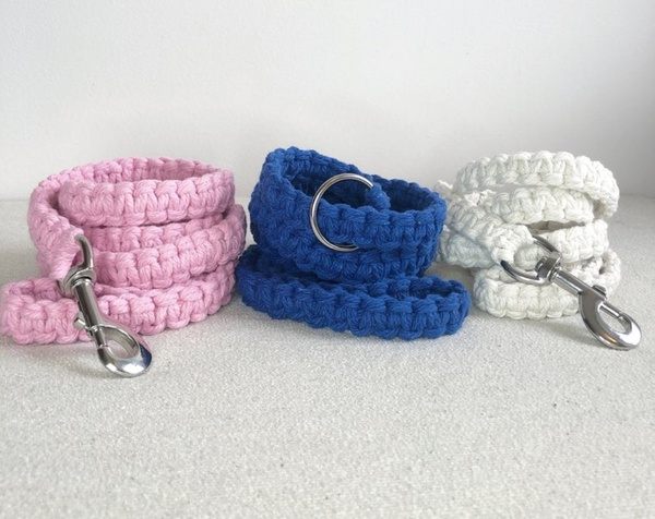 Dog macrame collars picture