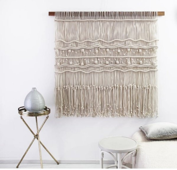 Macrame wall hanging picture