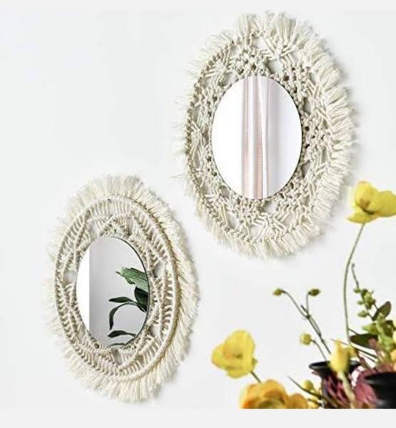 Macrame mirror picture