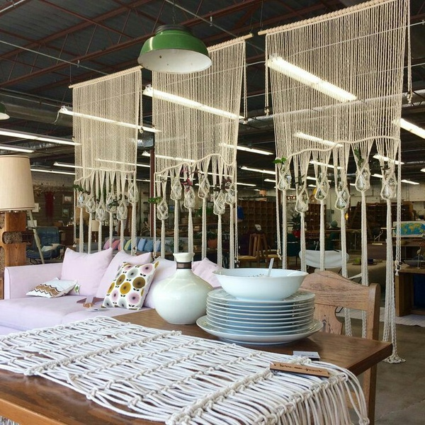 Macrame curtain. picture