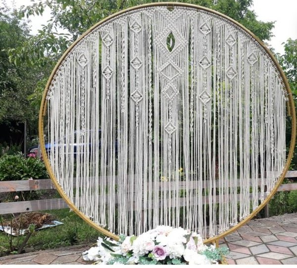 Macrame wedding arch picture
