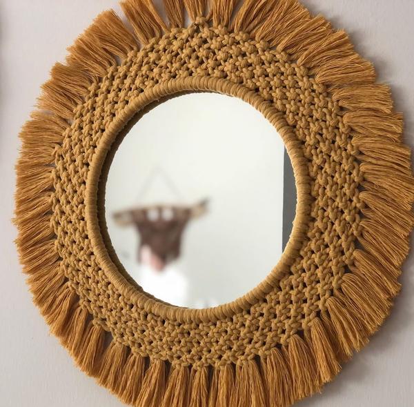 Macrame decor mirrors picture