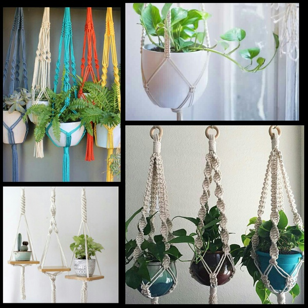 BOHEMIAN OUT DOOR DECOR ETC macrame garden chairs, hammocks & plant hangings picture