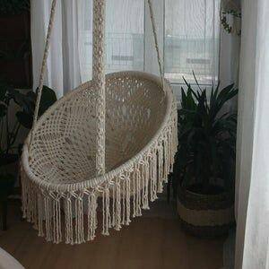 Macrame hammock chair picture