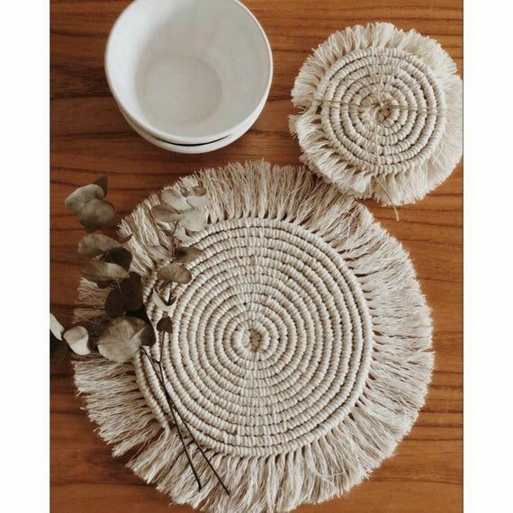 Macrame coasters picture
