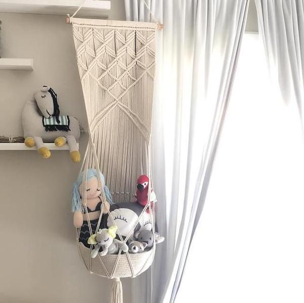 Macrame toy hanging basket picture