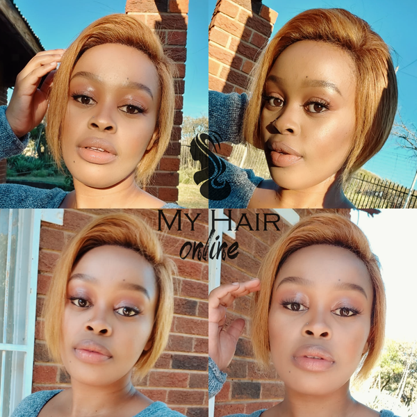 Blond pixie cut frontal picture