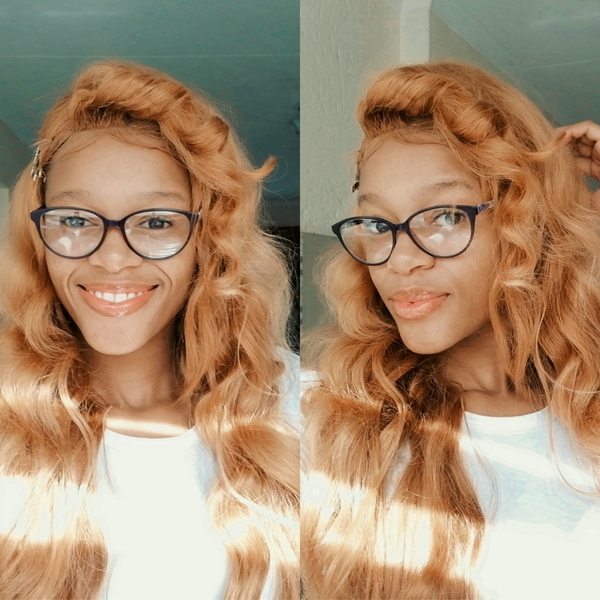 Full blond body wave picture