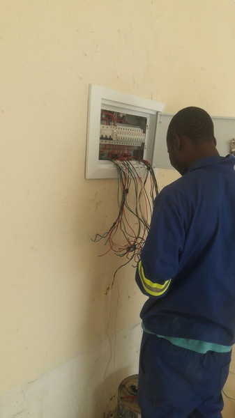 Electrical work done in midrend picture