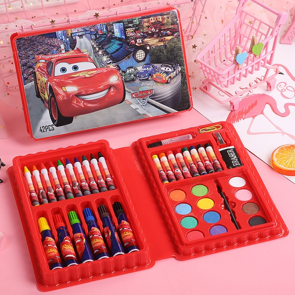 42 pc colouring set ( cars) picture