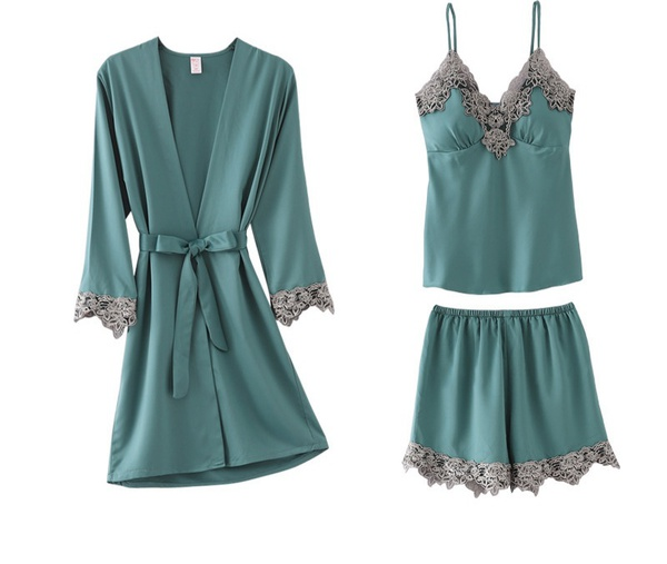 (s1-air-02) 3pc silk pajama set picture