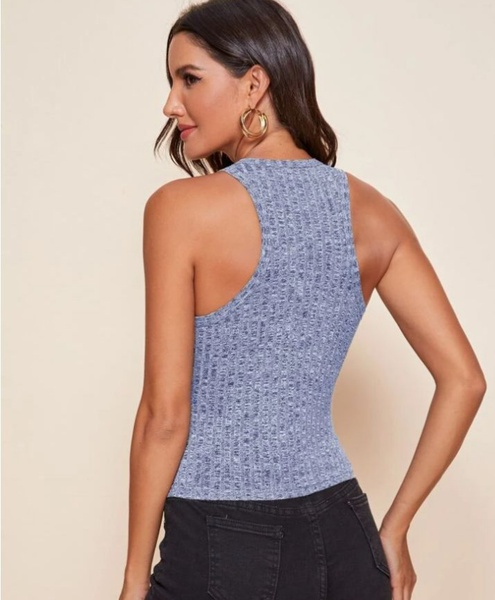 Solid crop tank top picture