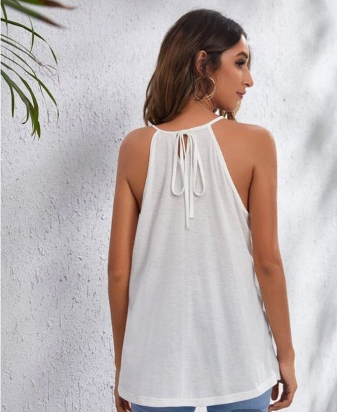 Cutout halter top picture