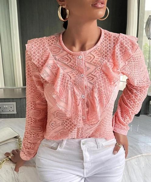 Ruffle lace blousse picture