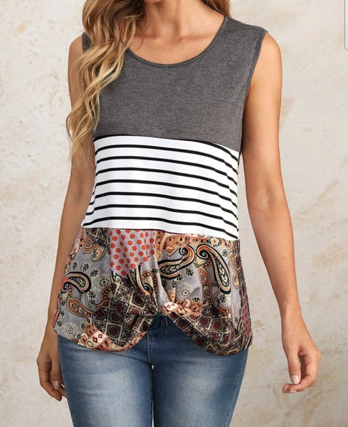 Mixed print top picture