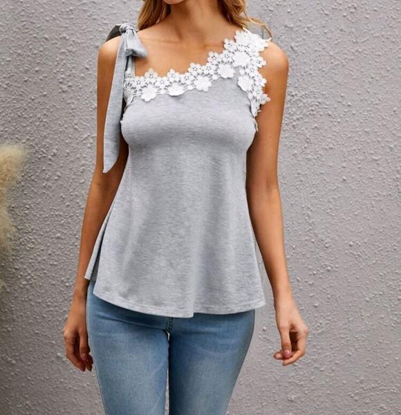 Lace applique top picture
