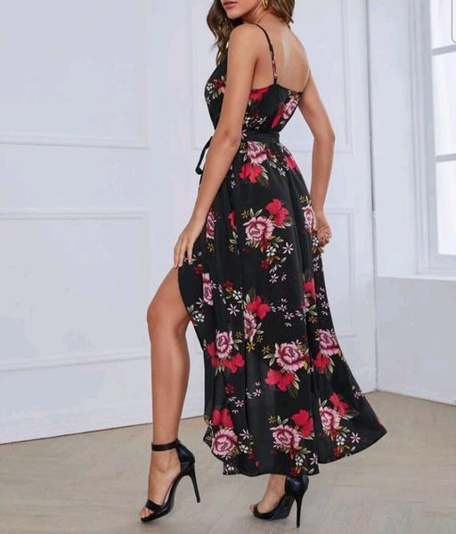 Wrap floral dress picture