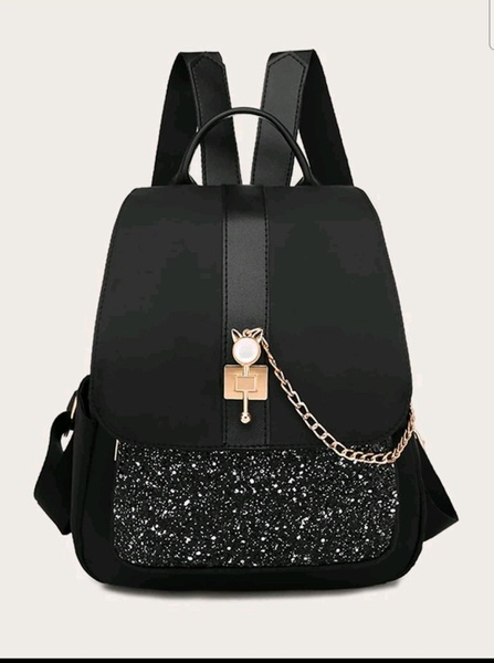 Glitter flap backpack picture