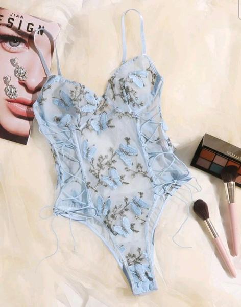 Lace up bodysuit picture