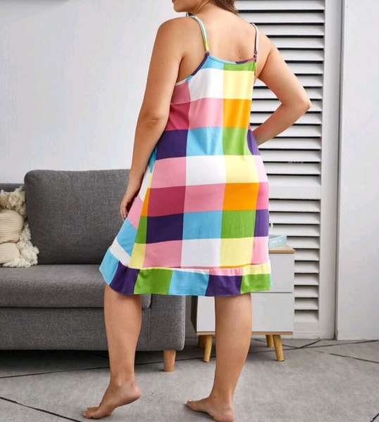 Colorful cami dress picture