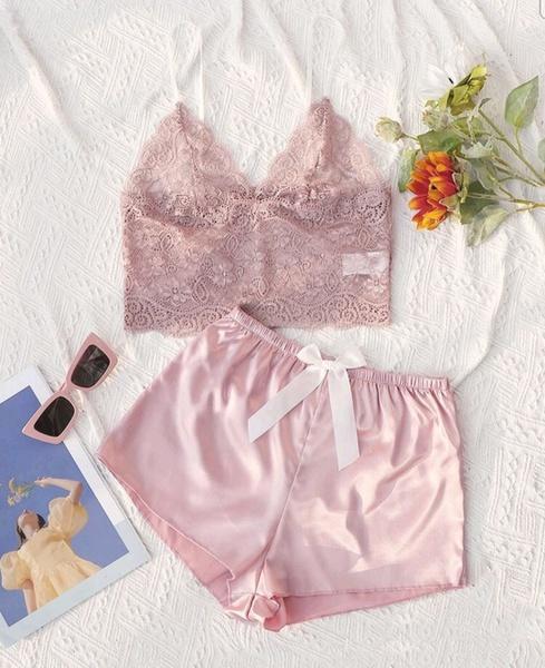 Baby pink pj set picture