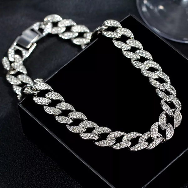 15 mm silver necklace and bracelet set. picture