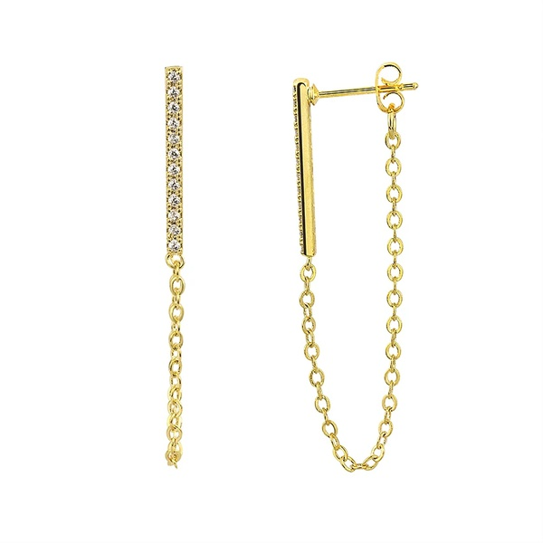 Cuffed chain earings picture