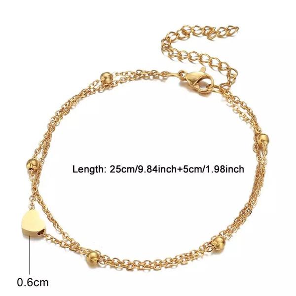 Solar double ankle bracelet picture