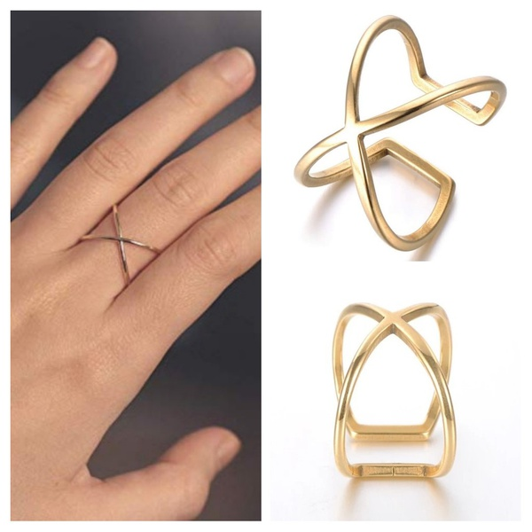 X-ring gold plated picture