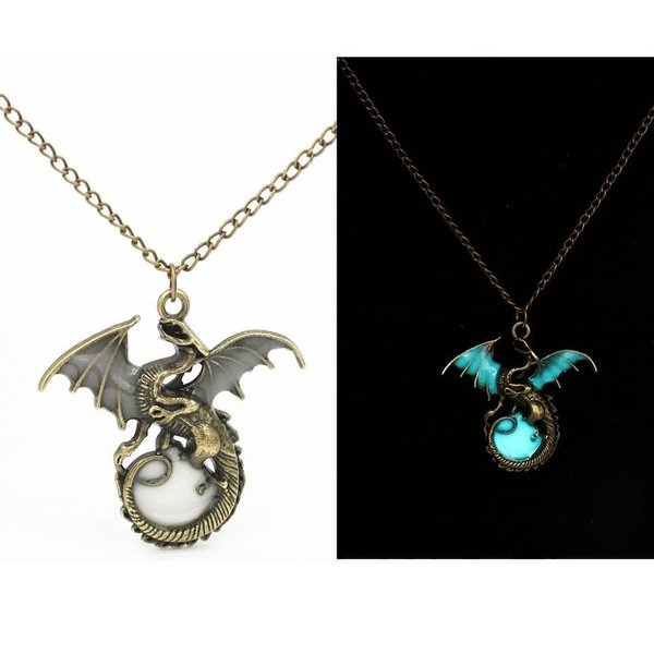 Glow in the dark dragon picture