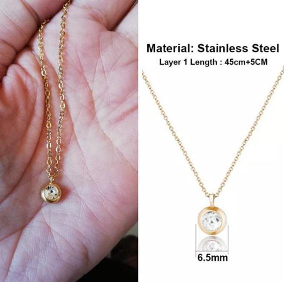 Solo-stone necklace picture