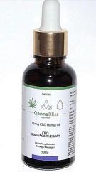 Qannabliss cbd massage oil picture