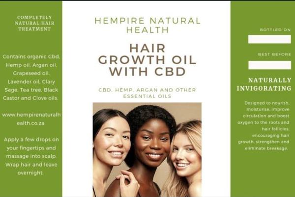 Hair growth oil with cbd , hemp , argan - 30ml picture