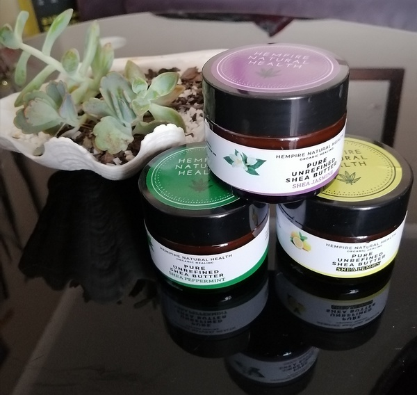 Shea butter infused with essential oils- set of  3x50ml picture