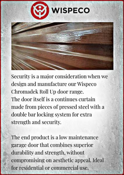 Wispeco roll up garage door picture