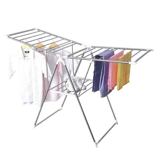 Plastic foldable laundry drying rack picture