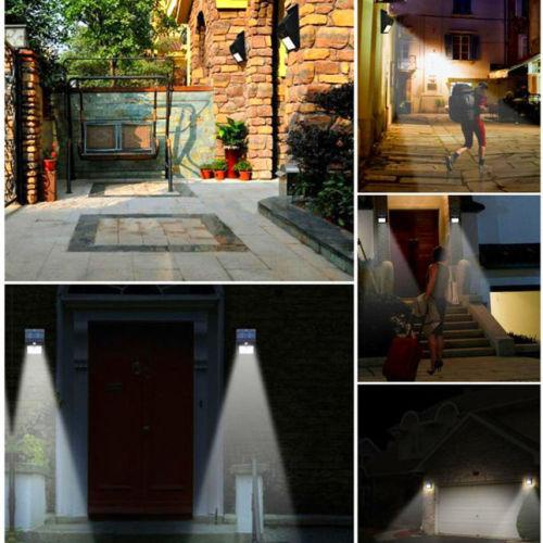 Solar powered led wall light picture