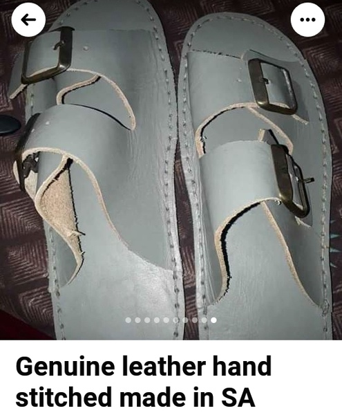 Genuine leather handcrafted & stitched sandals picture