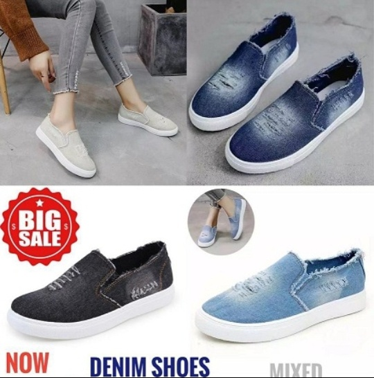 Denim shoes picture