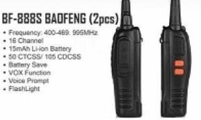 Portable 2-way radio - vox & flashlight picture
