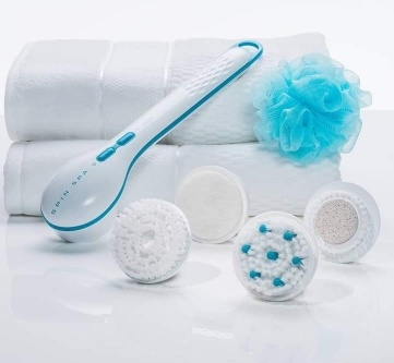 Spa electric shower brush 4-piece set picture