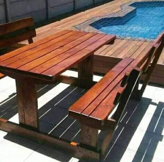 4 seater wooden picnic bench tables 🇿🇦 picture