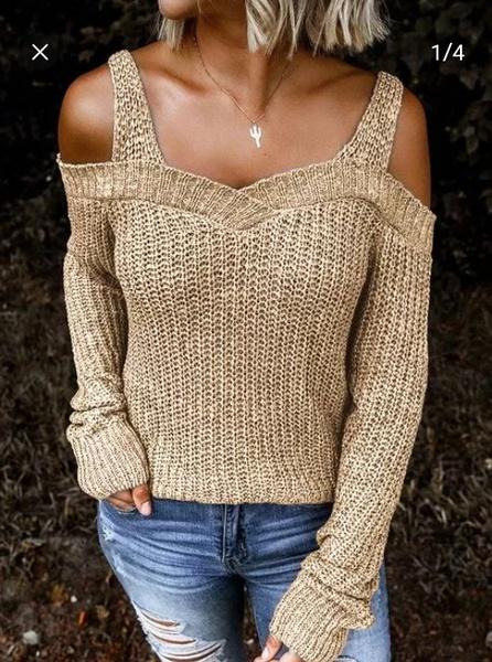 Item code :107251373 knit shoulder reveal picture