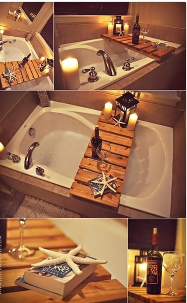 Wooden bath tray picture