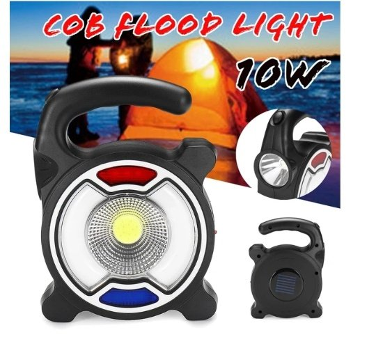 Cob work light •3 red & blue lights• lithium battery picture
